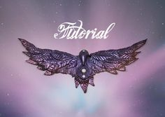 Fantasy Raven Polymer Clay Tutorial | Purple & Pink Mica Powder DIY Neck...