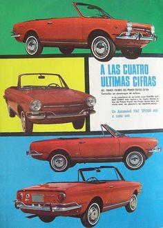 FIAT Spider 800. Publicidad década del 60.