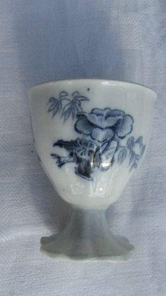 COQUETIER ANCIEN DECOR BLEU EEG CUP