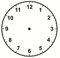 Printable clock templates blank clockface without hands clock telling time worksheet with six blank analog clock faces for marking up with hour and minutes hands pronofoot35fo Image collections