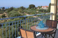 Villa Ersi | bedroom one, balcony view    www.villaersi.com  Kefalonia, Greece