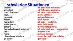 German for all Deutsch für alle: schwierige Situationen - Site Title German Grammar, German Words, Learn German, Learn English, Deutsch Language, Germany Language, German Language Learning, Quotes About Everything, Idioms