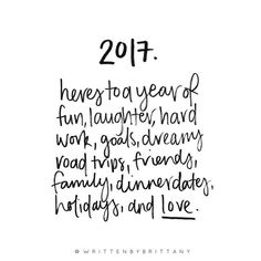 Here's to 2017 2016 was a whirlwhind here at Written by Brittany but onwards and upwards to bigger and better things in 2017. Wishing you all love and laughter for the year ahead and thanks again for all of your support of my little business.