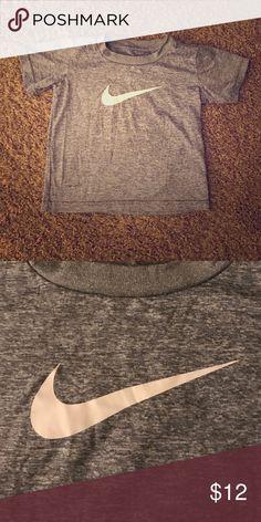 Gray NIKE Drifit tee 3T Basic gray Nike drifit tee with white swoosh. Size 3T. Nike Shirts & Tops Tees - Short Sleeve