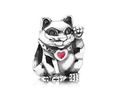 Pandora Silver Chinese Lucky Cat Charm 790989EN05