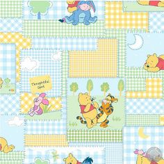 165000058 - Winnie the Pooh - Patchwork Fabric - Sold by the yard