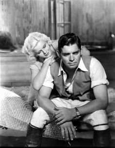 "Jean Harlow & Clark Gable in ""Red Dust"" 1932."