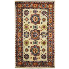 Shop for Herat Oriental Indo Hand-knotted Tribal Kazak Ivory/ Rust Wool Rug (3' x 5'). Get free shipping at Overstock.com - Your Online Area Rugs Outlet Store! Get 5% in rewards with Club O!