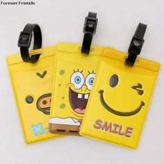 ForeverFriends Beautiful yellow luggage tag Bus card set,Bag Parts & Accessories for Travel,3 color for choose