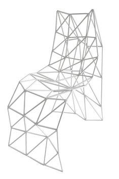 FRAME CHAIR GRAZIANO JULIAN MAYOR 2010 - Acier soudé, métallisé L.40 x H.85 x P.65 cm Edition Limitée à 10 ex.  Armel Soyer Gallery
