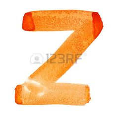 letter z: Z - Watercolor letters over white background Stock Photo