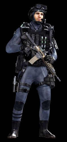 Call of Duty Ghosts © Activision / Infinity Ward ------- Jake Rowell = Art Lead  & Marketing Image / Bumjin Lee = Character Art / Steven Giesler & Jake Rowell = Head Art / Gennady Babichenko = Weapon Art