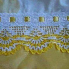 Home and Furniture: 10 DIY Spring Cleaning Tips And Tricks Crochet Lace Edging, Crochet Borders, Filet Crochet, Crochet Doilies, Crochet Stitches, Double Crochet, Crochet Baby, Knit Crochet, Easy Sewing Projects