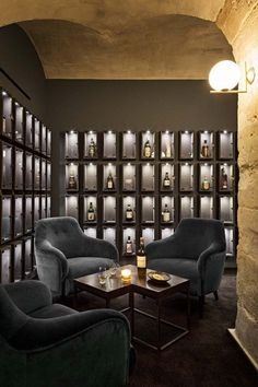 of Whiskey Bar / jbmn architectes - 2 - . - Gallery of Whiskey Bar / jbmn architectes – 2 – -Gallery of Whiskey Bar / jbmn architectes - 2 - . - Gallery of Whiskey Bar / jbmn architectes – 2 – - Lounge Design, Bar Lounge, Design Hotel, House Bar Design, Bar In House, Back Bar Design, Wine Bar Design, Wine Cellar Design, Hookah Lounge