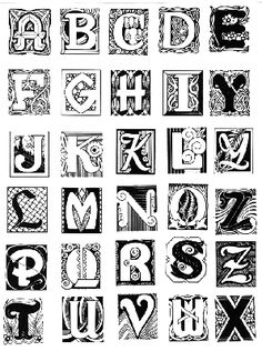 Art Nouveau Alphabet from StampaFe Art Stamps