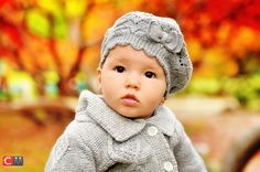 Fall baby photo - love the background colors