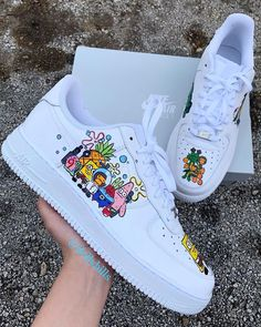 Behind The Scenes By dollybills - Deringa Jordan Shoes Girls, Girls Shoes, Shoes Women, Custom Painted Shoes, Custom Shoes, Cute Sneakers, Sneakers Nike, Nike Shoes Air Force, White Nike Shoes