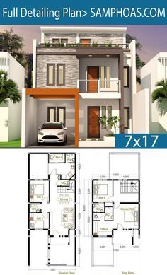 haus design 5 Bedrooms Home Design Plan This villa is modeling by SAM-ARCHITECT With 2 stories level. It's has 4 bedrooms. 4 Bedroom House description: The House has Car Parking 2 Storey House Design, Duplex House Design, Simple House Design, House Front Design, Modern House Design, Duplex House Plans, House Layout Plans, House Layouts, Small Modern House Plans