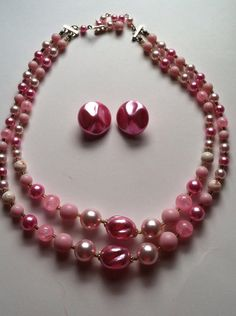 Vintage 1950s 1960s Pink Pearl and Mauve by LealynnOfScranton, $12.00