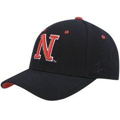 timeless design 7fd9c acca2 Zephyr Black Fitted Nebraska Cornhuskers, Snapback, Athlete, Baseball Hats,  Baseball Caps,