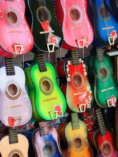 guitars! Love the designs and colors