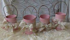 Lata balde rosa