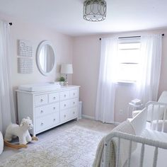 Loving the sweet simplicity and pure elegance of this gorgeous all white nursery — featuring our Plush Baby Change Pad Cover. Looks amazing…