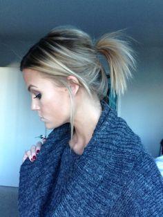 Messy ponytail