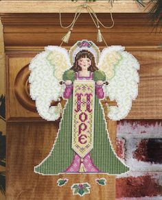Hope Angel Ornament Plastic Canvas
