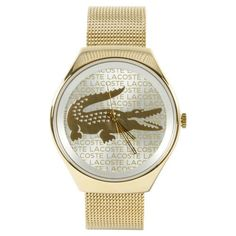 Lacoste Valencia Stainless Steel Mesh  GoldTone Womens watch 2000811 -- For more information, visit image link.
