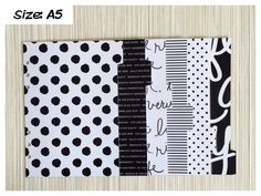 Terminplaner-Register ♥ Black Dots ♥ (Size: A5) by ApolloDesigns