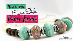 I just love the look of the smooth rounded beads you find on expensive charm bracelets. In this tutorial, I'm going to show you how to make your own version . Paper Beads Template, Paper Beads Tutorial, Make Paper Beads, Paper Bead Jewelry, How To Make Paper, How To Make Beads, Crafts To Make, Diy Jewelry, Jewelry Making