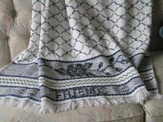 White Swedish Weaving Blanket