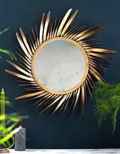 Large , Gold Feathered Sunburst Mirror bedroom mirror NEW IN Lounge Mirrors, Hall Mirrors, Living Room Mirrors, Sun Mirror, Gold Wall Mirror, Large Gold Mirror, Mirrored Walls, Art Deco Mirror, Brighton