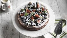 BBC - Food - Recipes : Baked cheesecake with blackberries, blueberries and figs Lorraine Pascale