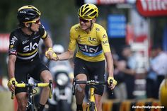 Paris - France  - wielrennen - cycling - radsport - cyclisme - Geraint Thomas (GBR-Team Sky) - Christopher Froome (GBR-Team Sky)   pictured during stage 21 of the 2016 Tour de France from Chantilly to Paris, 113.00 km - photo Dion Kerckhoffs//Davy Rietbergen/Cor Vos © 2016
