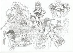 Marvel-Anime drawing