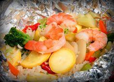 foil pack fish & shrimp dinner