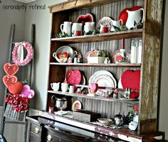 Serendipity Refined: Vintage Valentine's Day Dining Room Decor...and a Love Story