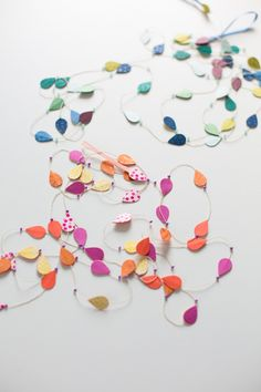 Garland which can be used to decorate the top of the shot (like to be dangled)