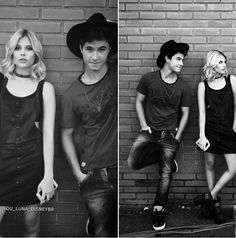 Michaentina ❤ Disney Channel, Michel Ronda, Son Luna, Dramione, Poses, Couple Goals, Relationship Goals, Youtubers, Bff