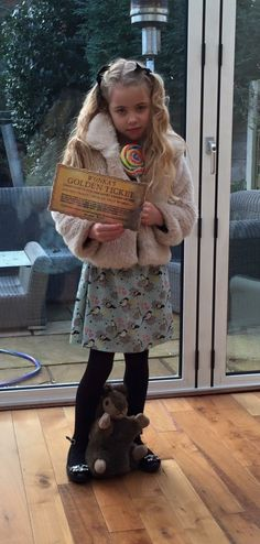 Roald Dahl Fancy dress World Book Day Costume Verruca Salt from Charlie and the Chocolate Factory Willy Wonka Fancy Dress, World Book Day Ideas, Roald Dahl Fancy Dress, Best Cake Ever, Veruca Salt, World Book Day Costumes, Fancy Dress For Kids, Chocolate Factory, Put On