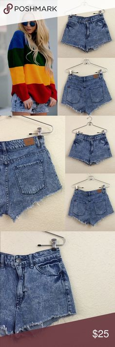 """Urban outfitters BDG shorts price firm • urban outfitters BDG  •  high rise dree  cheeky fit • Size 27 waist measures 14"""" • no damages Urban Outfitters Shorts Jean Shorts"""