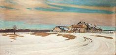 Julian Falat (1853 Tuliglowy - 1929 Bystra) Winter