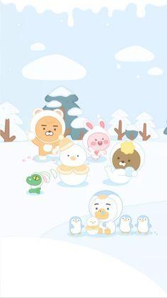 Kakao Friends, Hello Kitty, Tube, Peach, Wallpapers, Cartoon, Phone, Character, Peaches