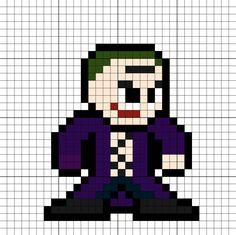 The Joker SS Perler Bead Pattern