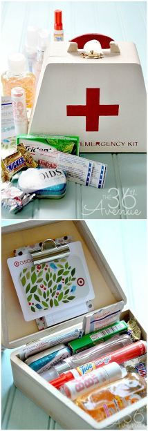 Emergency Kit Gift Idea... Perfect for teachers, friends and teens!  the36thavenue.com #gifts