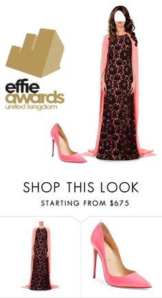 """""""Princess Chelsea Attends Effie Awards"""" by chelseaofwales ❤ liked on Polyvore featuring Oscar de la Renta and Christian Louboutin"""