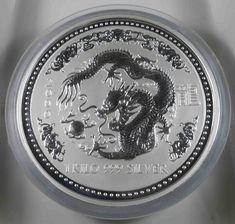 Australien 30 Dollars 2000 Lunar 1 Drache 1 Kilo 999 Silbermünze