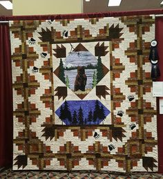 Hayward WI Piecemakers Quilting Guild 2016 Raffle Quilt. Won First Place at MQX in Springfield IL 2016 in Group category. Quilted by Thornapple Quilting & Design LLC